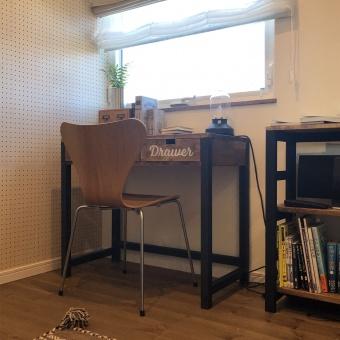 在宅ワーク 書斎 デスク セブンチェア フリースペース ナチュリエ DIY