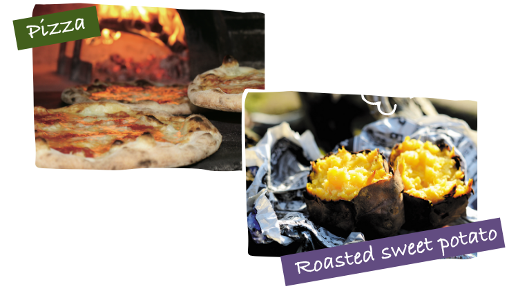 Pizza/Roasted sweet potato